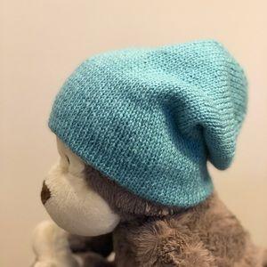 Handmade wool/acrylic baby hat. Size 6-9 M